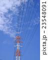 鉄塔 送電線 高圧線の写真 23548091