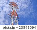 鉄塔 送電線 高圧線の写真 23548094