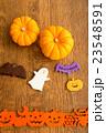 ハロウィンのカボチャとお化けのクッキー 23548591