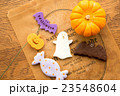 ハロウィンのカボチャとお化けのクッキー 23548604