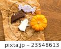 ハロウィンのカボチャとクッキー 23548613