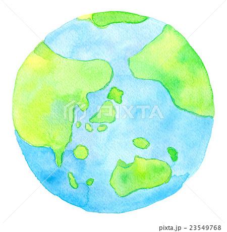 水彩イラスト 地球 23549768
