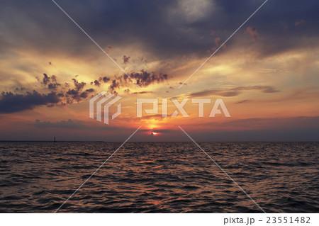 summer sunset on the bay 23551482
