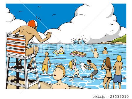 「水難事故」のイメージイラスト 23552010