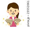 女性お財布を持つOKサイン 23552061