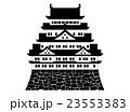 名古屋城のイラスト モノクロ 23553383