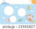 【暑中見舞い】海で泳ぐ女の子(フォトフレーム) 23563827