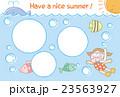 【暑中見舞い】海で泳ぐ女の子(フォトフレーム) 23563927