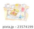 海外のホテルの朝食 イラスト 23574199