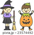 ハロウィンの仮装をした子供 23574492