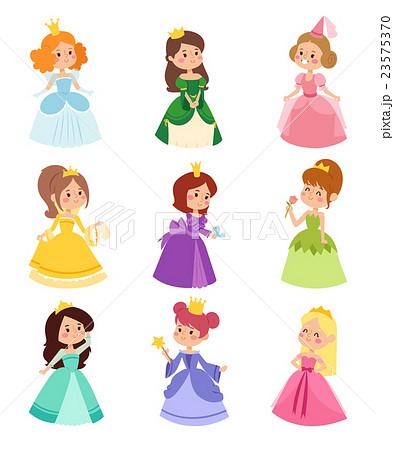 Princess Vector Setのイラスト素材 23575370 Pixta