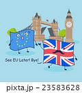 EU flag and British flag 23583628