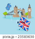 EU flag and British flag 23583630