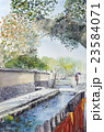 京都・上賀茂の社家町 水彩画 23584071