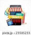 映画 映画館 モバイルのイラスト 23585233