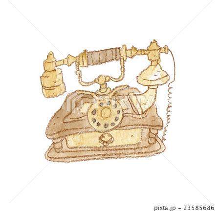 海外のレトロな電話のイラストのイラスト素材 23585686 Pixta