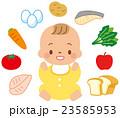 食品 赤ちゃん 赤ん坊のイラスト 23585953