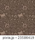 犬のイラスト 模様 23586419