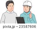 作業員から説明を受ける依頼者 23587606