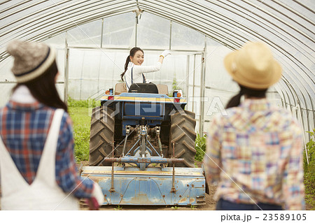 農業女子 ポートレート 23589105