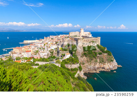 Coastal landscape with old town of Gaeta 23590259