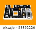 IoT文字にあるスマート家電。暮らしにあるモノのインタネットコンセプト 23592220
