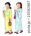 浴衣 綿菓子 女の子のイラスト 23592867