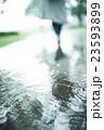 雨 公園 水溜まりの写真 23593899