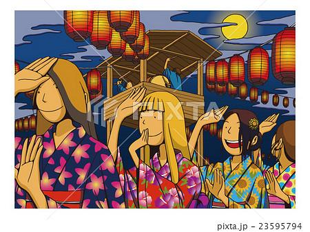 「盆踊り」のイメージイラスト 23595794