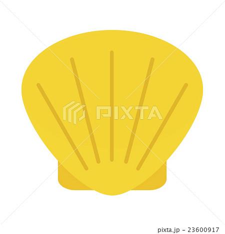 ホタテ貝のイラスト素材 23600917 Pixta