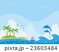南の島と海のイラスト 23603484