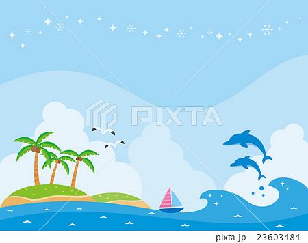 南の島と海のイラストのイラスト素材 23603484 Pixta