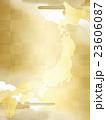 金色 日本 地図のイラスト 23606087