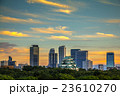 名古屋城 高層ビル 夕焼けの写真 23610270