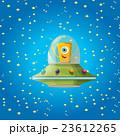 alien spaceship . orange alien in space vector. 23612265