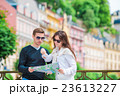 Young tourist couple traveling on holidays in 23613227