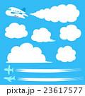 飛行機、飛行機雲のイラストセット 23617577