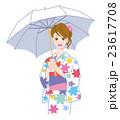 日傘 浴衣 夏のイラスト 23617708