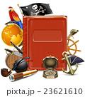 海賊旗 オウム コンパスのイラスト 23621610