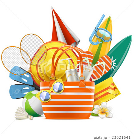 Vector Beach Accessories with Bag 23621641