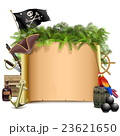 Vector Pirate Scroll with Palm 23621650