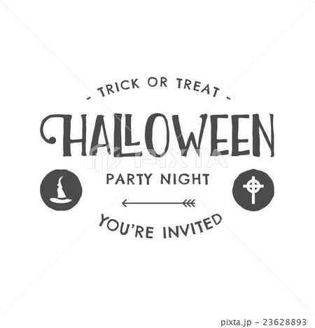 halloween 2016 party invitation label templatesのイラスト素材