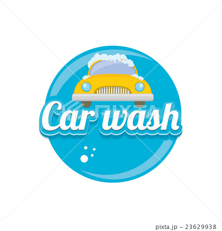 vector Car wash icons set isolated on white.のイラスト素材 [23629938] - PIXTA