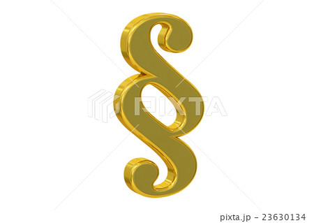 Paragraph Golden Symbol, 3D renderingのイラスト素材 [23630134] - PIXTA