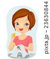 汚れ 女性 メスのイラスト 23630844