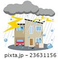 雹 雷雨 災害 家 23631156