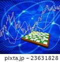 チェス盤上のチェスの駒と株式市場 23631828