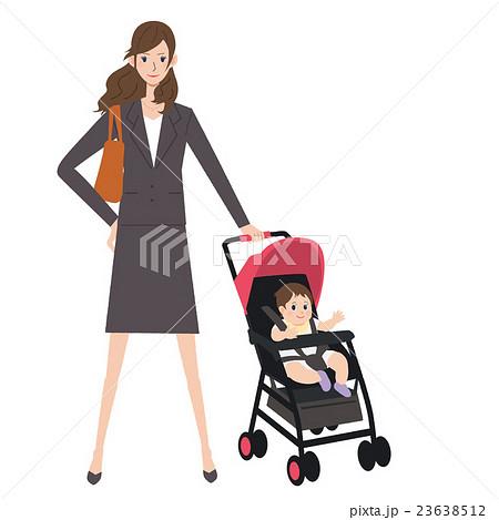 子育て 働く女性 イラストのイラスト素材 23638512 Pixta