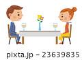 レストランでデートするカップル 23639835