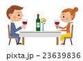 レストラン 乾杯 カップルのイラスト 23639836